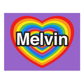 I love Melvin. I love you Melvin. Heart Postcard