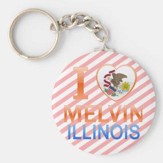 I Love Melvin, IL Basic Round Button Keychain