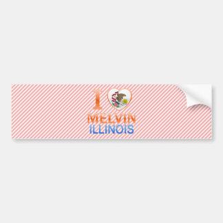I Love Melvin, IL Car Bumper Sticker
