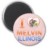 I Love Melvin, IL Fridge Magnet