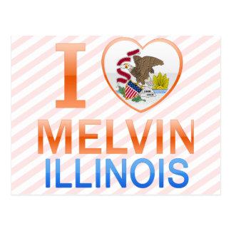 I Love Melvin, IL Postcards