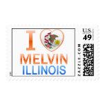 I Love Melvin, IL Stamp