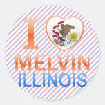I Love Melvin, IL Stickers