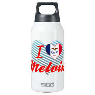 I Love Melvin, Iowa 10 Oz Insulated SIGG Thermos Water Bottle
