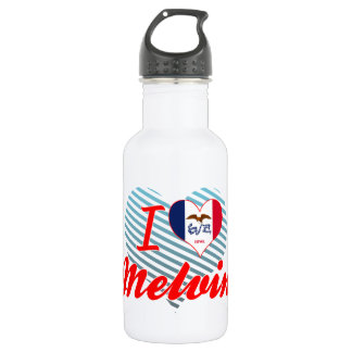 I Love Melvin, Iowa 18oz Water Bottle