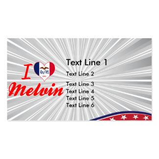 I Love Melvin, Iowa Business Card Template