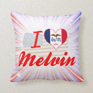 I Love Melvin, Iowa Throw Pillows