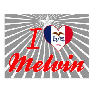 I Love Melvin, Iowa Postcard