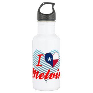 I Love Melvin, Texas 18oz Water Bottle