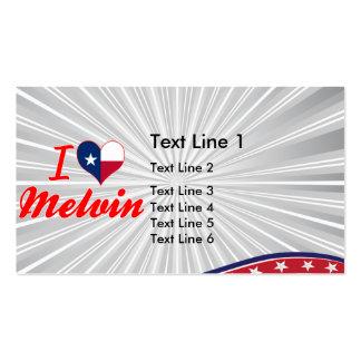 I Love Melvin, Texas Business Card
