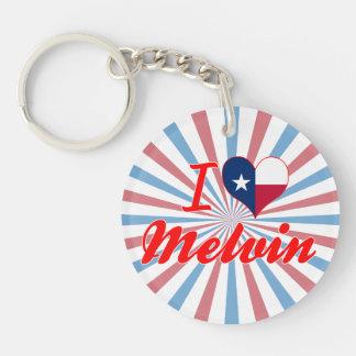I Love Melvin, Texas Single-Sided Round Acrylic Keychain