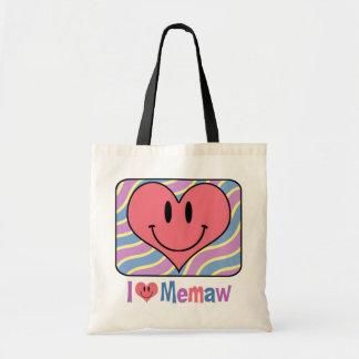 I Love Memaw Tote Bags