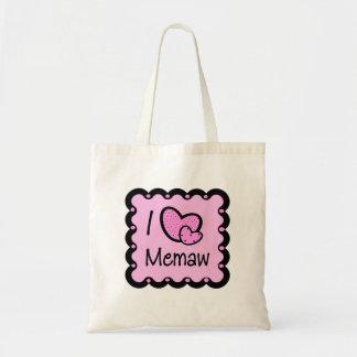 I Love Memaw Cute T-Shirt Tote Bag