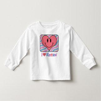 I Love Memaw Toddler T-shirt