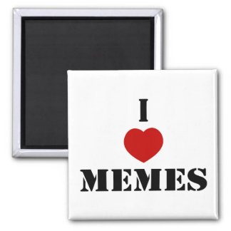 I Love Memes 2 Inch Square Magnet