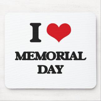 I Love Memorial Day Mousepads