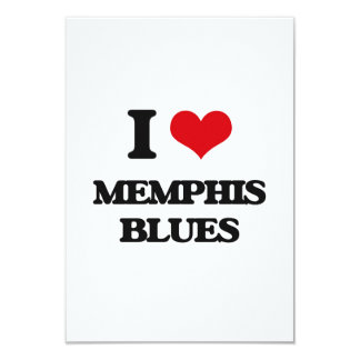 I Love MEMPHIS BLUES 3.5x5 Paper Invitation Card
