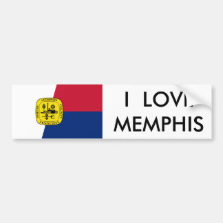 I LOVE MEMPHIS CAR BUMPER STICKER