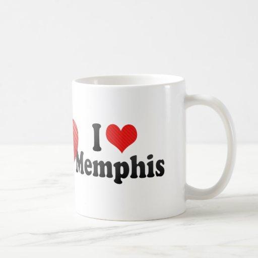 I Love Memphis Classic White Coffee Mug