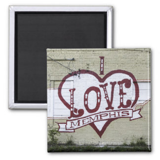 I Love Memphis Graffiti Magnet