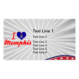 I Love Memphis, Michigan Double-Sided Standard Business Cards (Pack Of 100)
