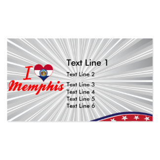 I Love Memphis, Missouri Double-Sided Standard Business Cards (Pack Of 100)