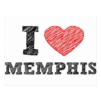 I Love Memphis Postcard