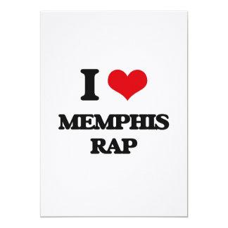 I Love MEMPHIS RAP 5x7 Paper Invitation Card