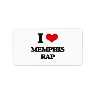 I Love MEMPHIS RAP Custom Address Label