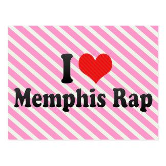 I Love Memphis Rap Postcard