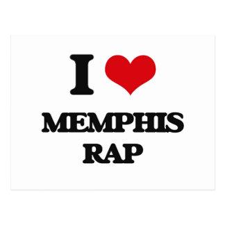 I Love MEMPHIS RAP Post Card
