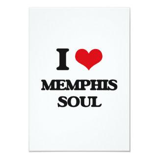 I Love MEMPHIS SOUL 3.5x5 Paper Invitation Card