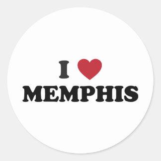 I Love Memphis Round Sticker