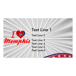I Love Memphis, Tennessee Double-Sided Standard Business Cards (Pack Of 100)