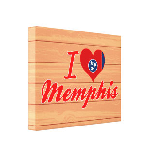 I Love Memphis Tennessee Stretched Canvas Print