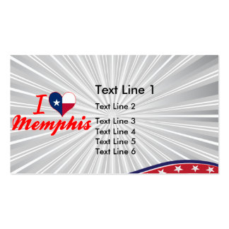 I Love Memphis, Texas Double-Sided Standard Business Cards (Pack Of 100)