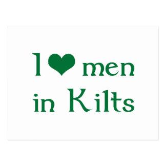 I love men in Kilts Postcard
