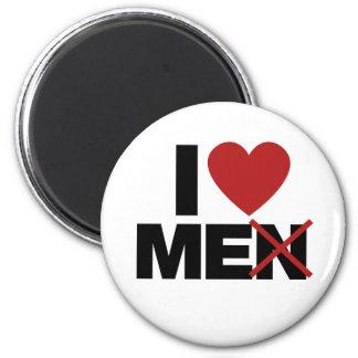 I Love Men 2 Inch Round Magnet