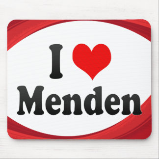 I Love Menden Germany Ich Liebe Menden Germany Mouse Pad