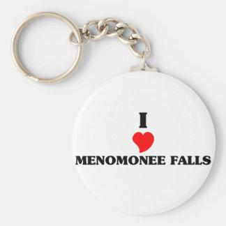 I love Menomonee Falls Basic Round Button Keychain
