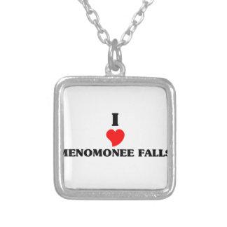 I love Menomonee Falls Square Pendant Necklace