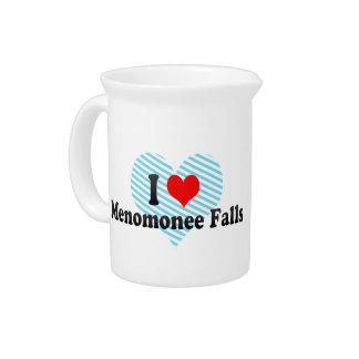 I Love Menomonee Falls, United States Beverage Pitchers