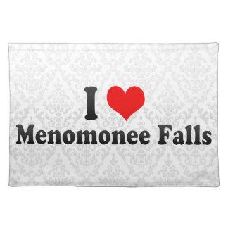 I Love Menomonee Falls, United States Cloth Placemat