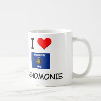 I Love Menomonie Wisconsin Coffee Mug