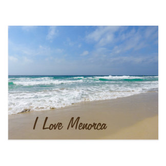 I Love Menorca Beach Postcard
