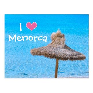 I Love Menorca Postcard