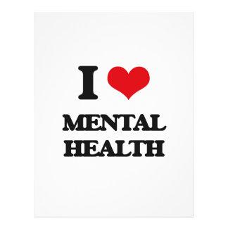 "I Love Mental Health 8.5"" X 11"" Flyer"