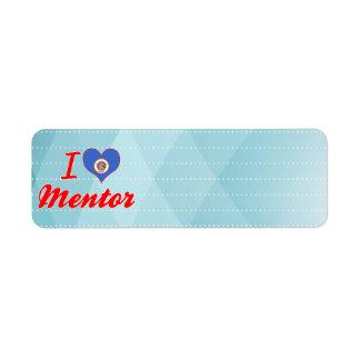 I Love Mentor, Minnesota Return Address Label
