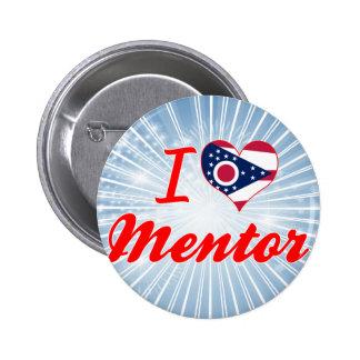 I Love Mentor Ohio Pinback Button