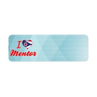 I Love Mentor Ohio Labels